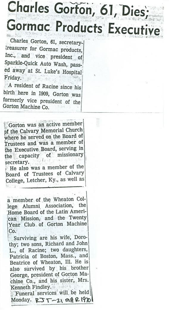 George Gorton III & family